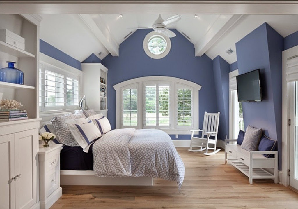 Calming wall paint home interior design inspiration - Blue bedroom paint ideas ...