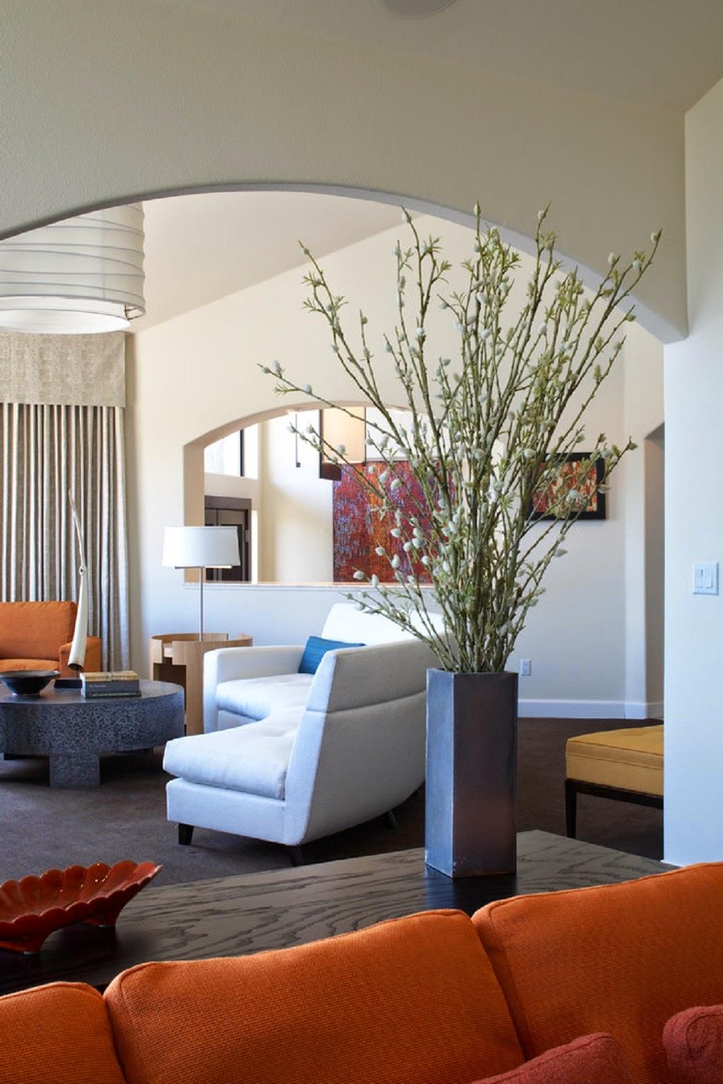 Decorating Living Room Sofas: Arrangement Vase Decoration For Living Room Ideas
